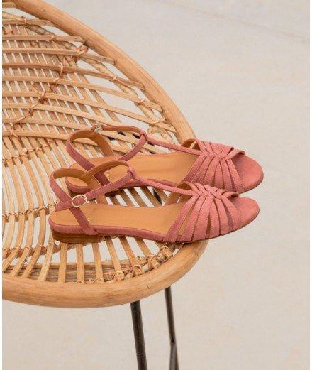Sandales plates Gaby - Vieux Rose (LMVANNES)