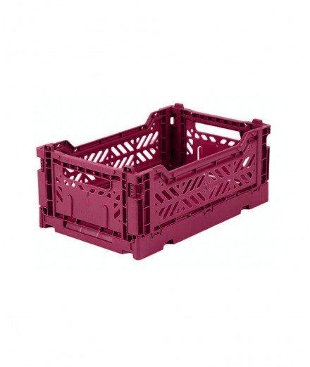 Caisse pliable petit format - Framboise