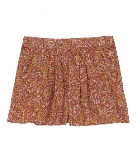 Short en coton imprimé camélia (LMvannes)