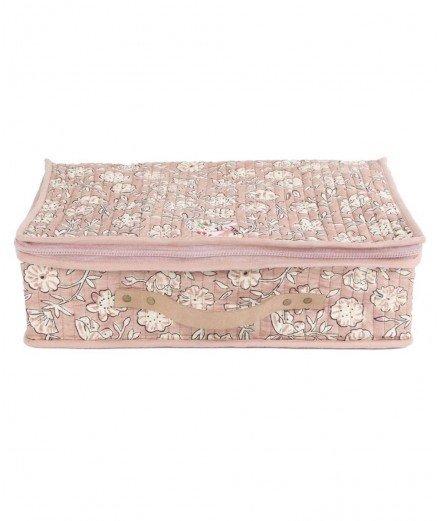 Valise en coton imprimé floral (Lm vannes et lorient)