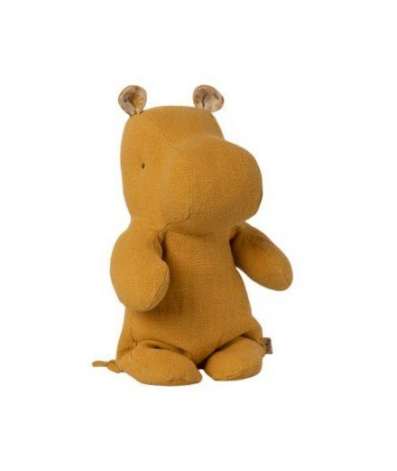 Peluche Hippopotame - Moutarde