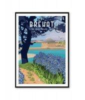 Affiche A2 - Bréhat, l'île aux fleurs