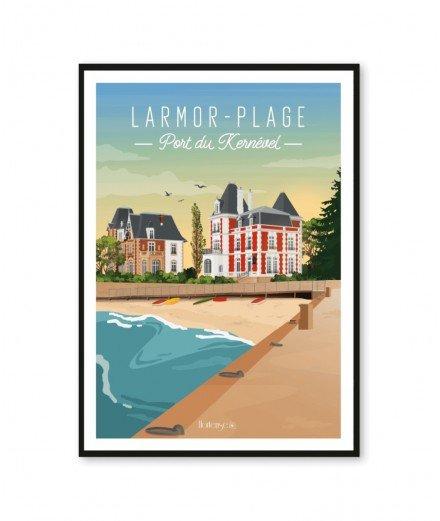 Affiche A2 - Larmor-Plage, Port de Kernével