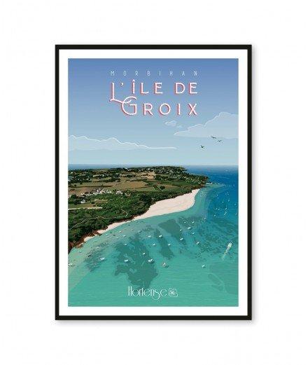 Affiche A2 - L'île de Groix