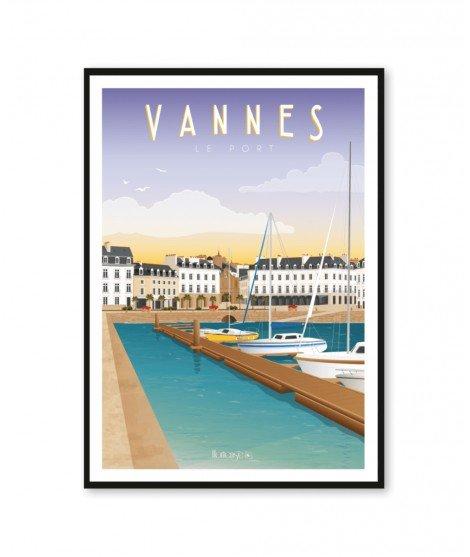 Affiche A2 - Vannes, Le Port