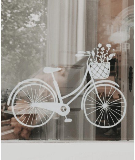 Sticker mural - Vélo et ses fleurs