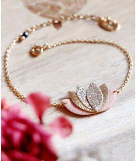 Bracelet Nil - Terracotta paillettes
