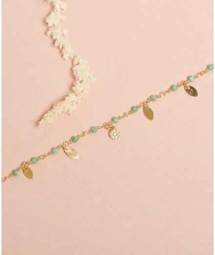 Bracelet Inde Pampilles - Chrysoprase