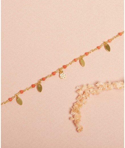 Bracelet Inde Pampilles - Corail