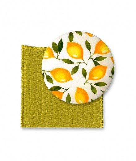 Miroir de poche et son pochon - Citronnade