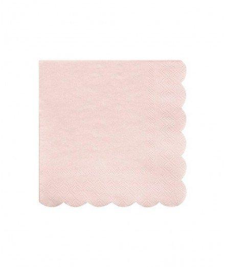 20 serviettes - Rose Pastel