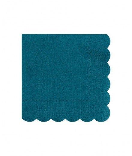 20 serviettes - Bleu pétrole