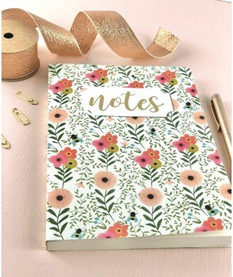 Cahier A5 - fleurs printanières