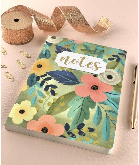 Cahier A5 - fleurs colorées