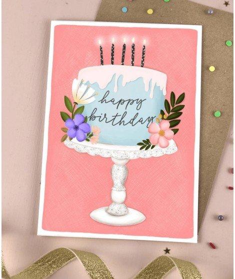 Carte d'anniversaire - Gâteau d'anniversaire