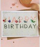Carte d'anniversaire - Happy Birthday Floral