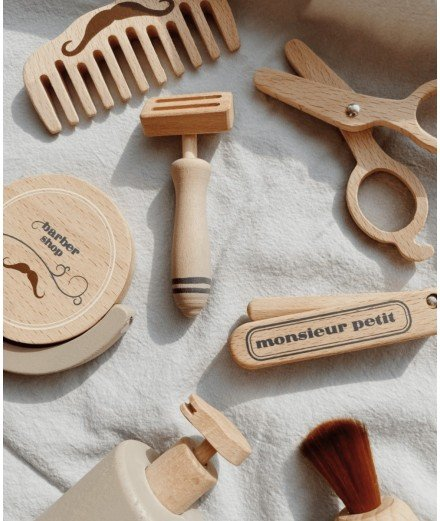 Kit de barbier en bois