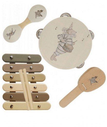 Valise avec ses instruments de musique