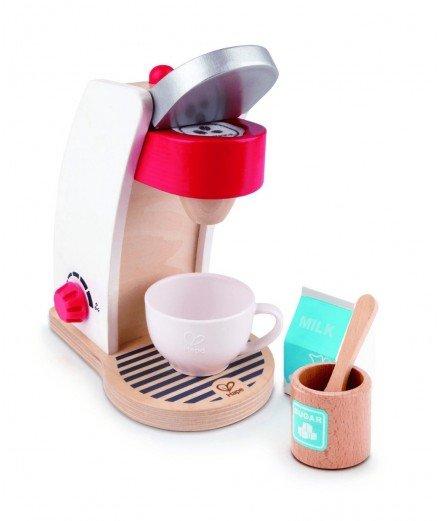 Machine à café en bois - Blanc