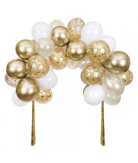 Kit Arche de ballons or - 40 ballons
