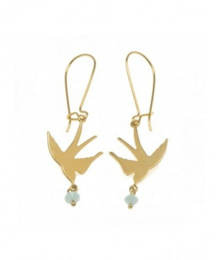 Boucles d'oreilles Swallow flying