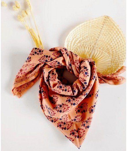 Foulard fleuri femme et enfant - Primrose macaron