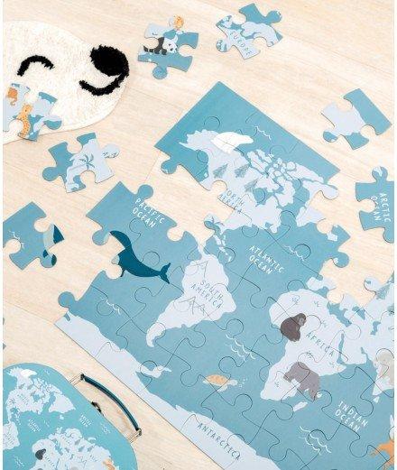 Puzzle dans sa valisette - Animaux en voie de disparition
