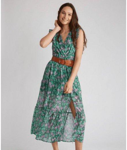Robe longue Hariette - Vert