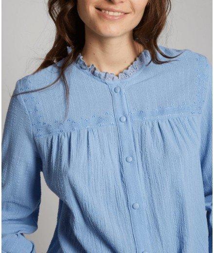 Chemise en coton Baya - Bleu