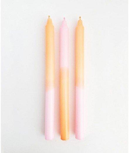 Chandelle dégradé Orange et rose - Happy Stripes