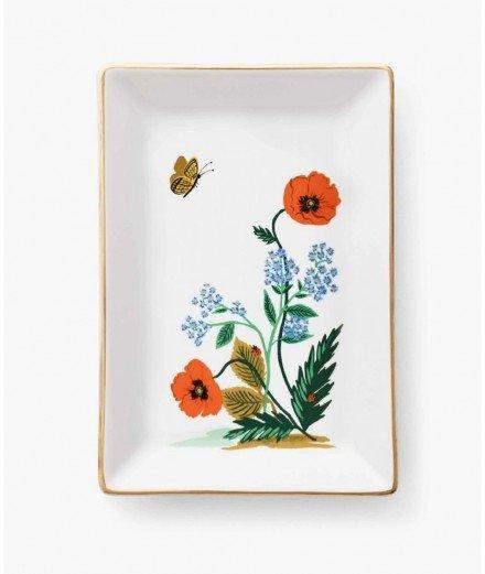 Vide poche en porcelaine - Poppy botanical