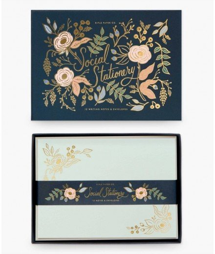 Coffret papeterie 12 cartes et enveloppes- Colette