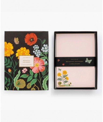 Coffret papeterie 12 cartes et enveloppes - Botanical