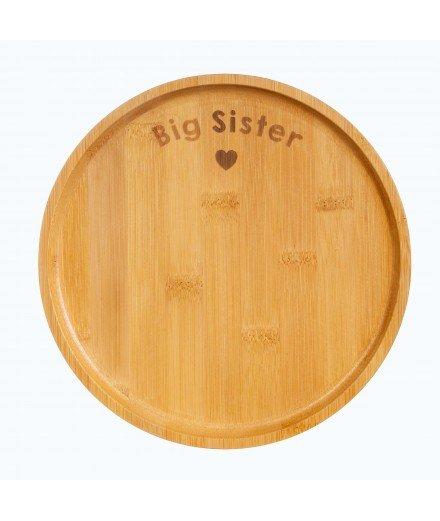 Grande assiette en bambou - Big Sister