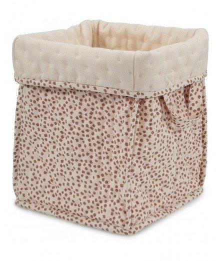 Grand panier de rangement en coton - Buttercup rosa