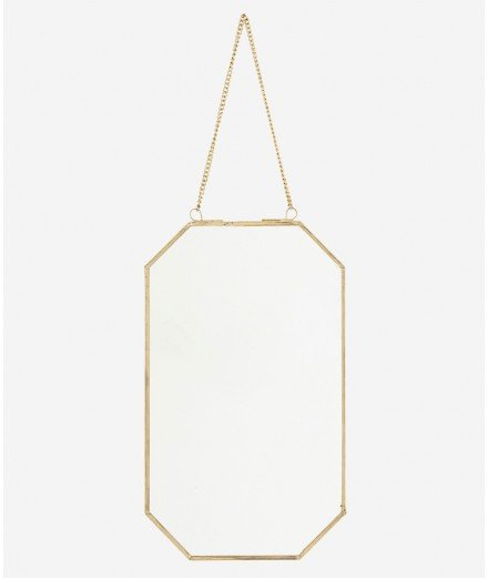 Miroir octogonal en laiton