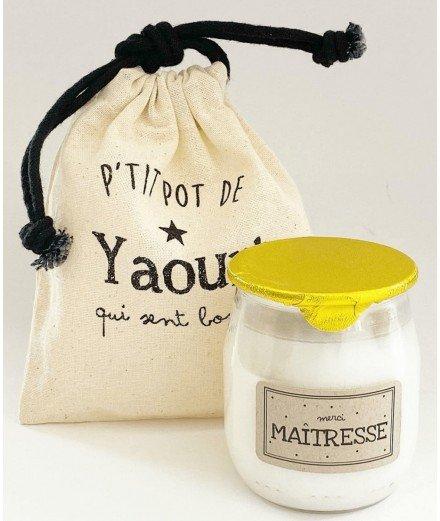 Bougie Pot de Yaourt - Maîtresse