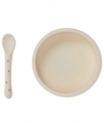 Coffret assiette à ventouse et cuillère en silicone
