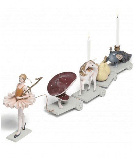 Décoration d'anniversaire - Train ballerine