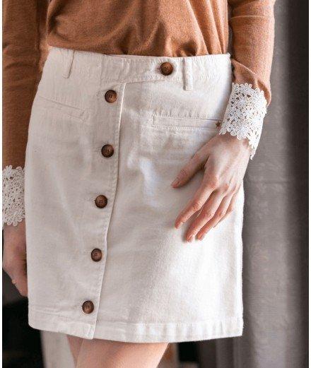 Jupe en jean blanc - Elais