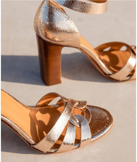 Sandales à talons Juliet - Doré