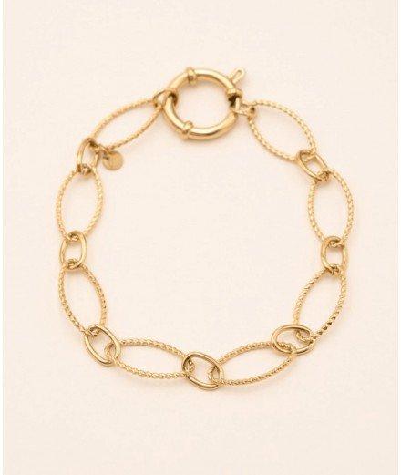 Bracelet à larges mailles Anastasy - Acier inoxydable
