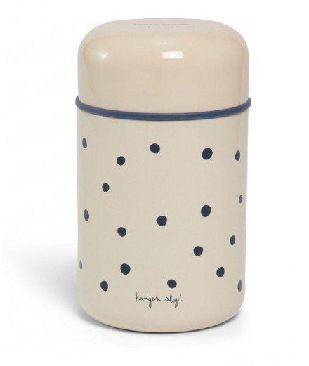Lunch box isotherme - pois bleu - 350 ML - acier inoxydable -konges slojd