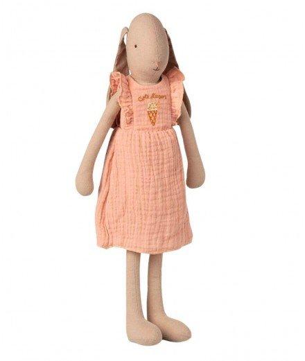 Poupée Lapin en robe rose - Taille 3