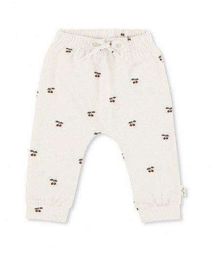 Pantalon pour bébé en coton bio - cerises - konges slojd - coton gots