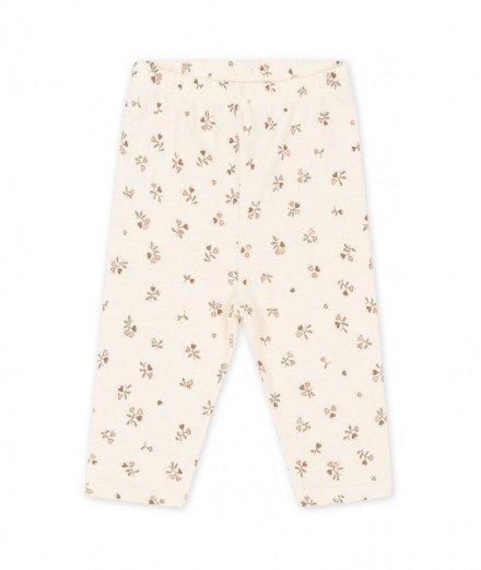 Legging bébé en coton bio - Petit amour rose - konges slojd - merci leonie - legging nouveau né - legging coton GOTS