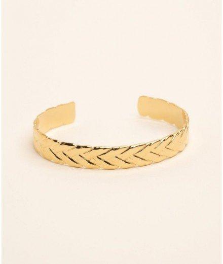 Bracelet jonc en acier inoxydable - Ela