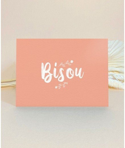 Carte postale - Bisou