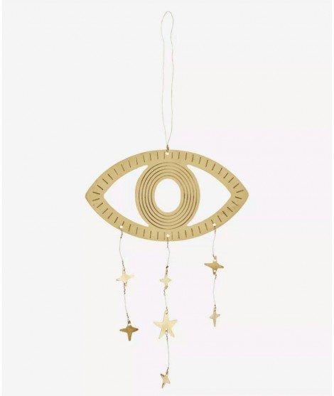 Suspension Oeil et étoiles - doré -décoration murale - madam stoltz - merci léonie