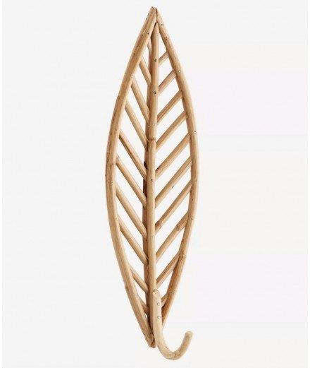 Patère en bambou - feuille